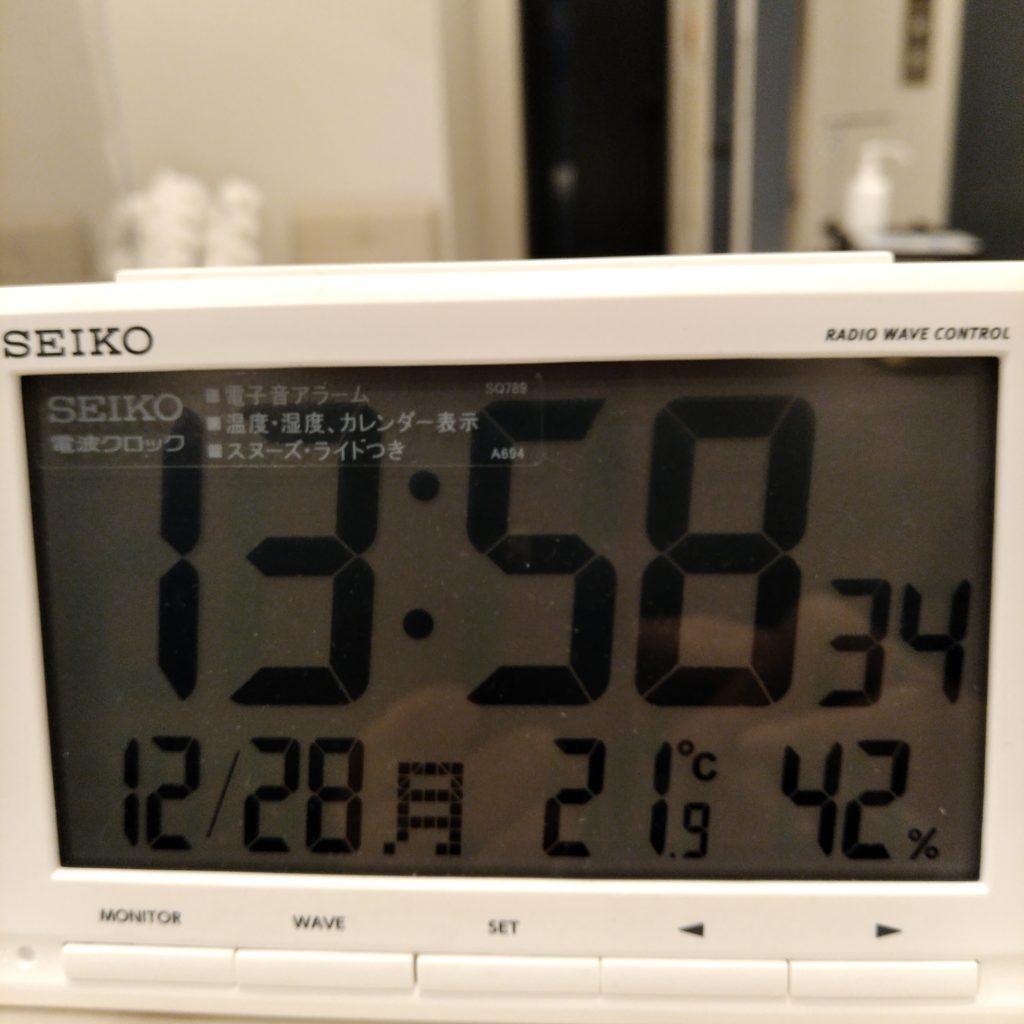 池袋のメンタルクリニックの温度湿度計