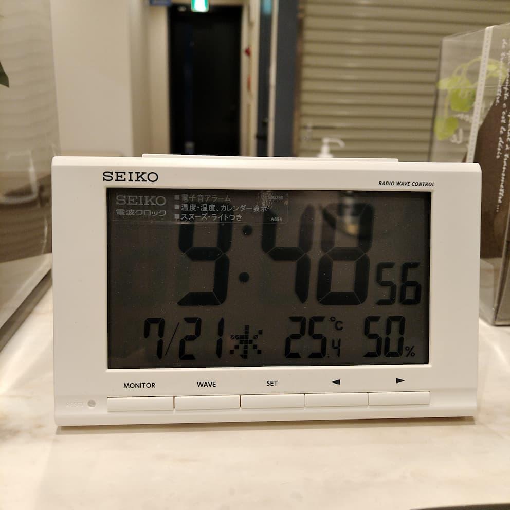 池袋の心療内科の待合室での暑熱に対す空調管理
